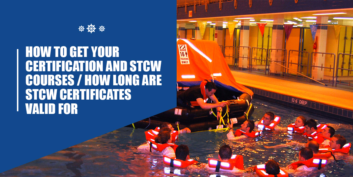 People in a pool for STCW Course