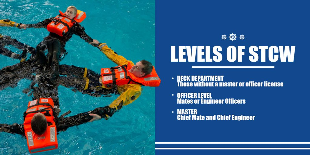 Levels of STCW requirements for mates, chief engineers, and more Graphic