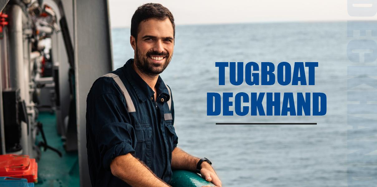 tugboat deckhand at sea
