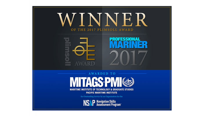 MITAGS'S NSAP is the 2017 Winner of the Plimsoll Award for Outstanding Service