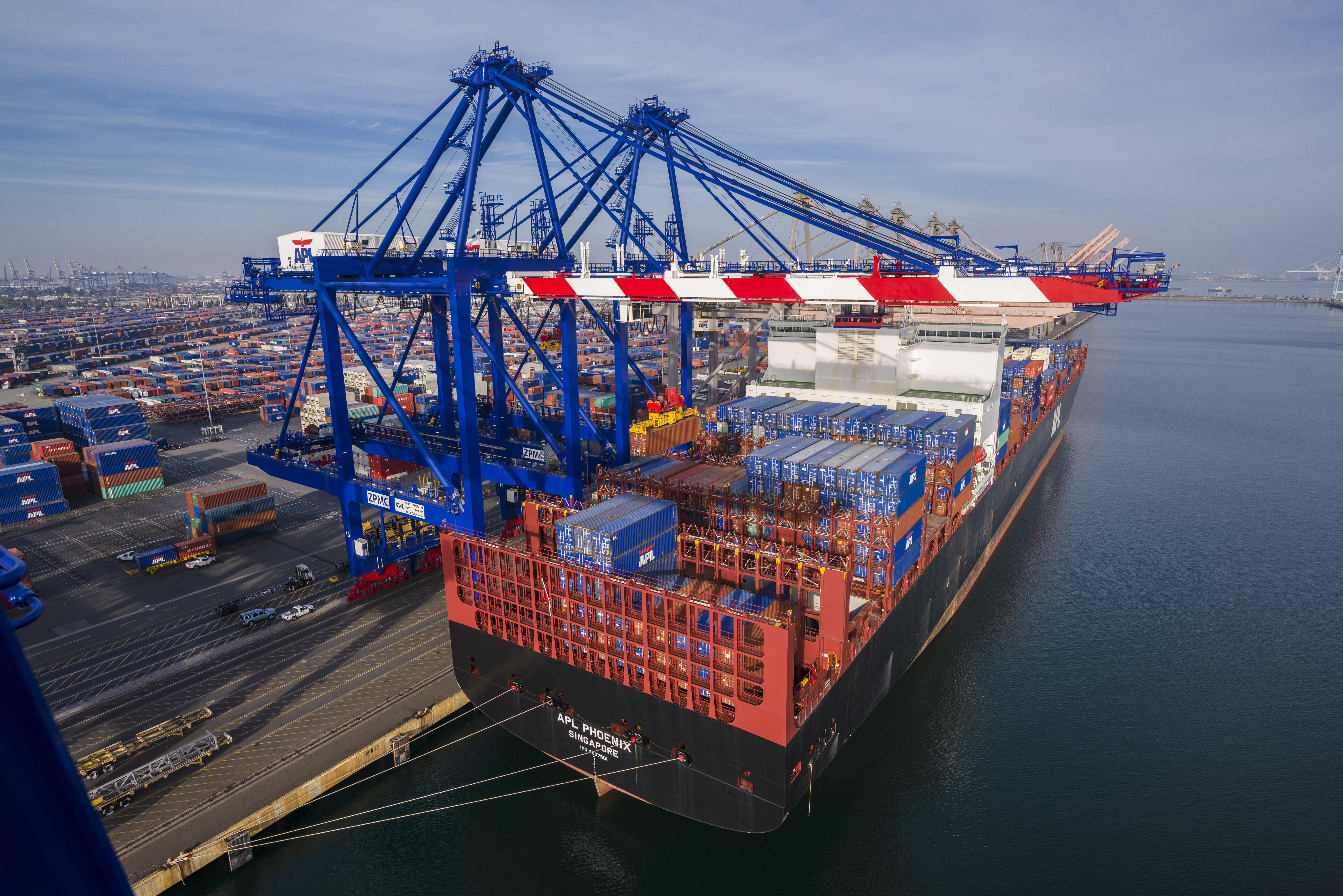 Vessel docked at a shipyard