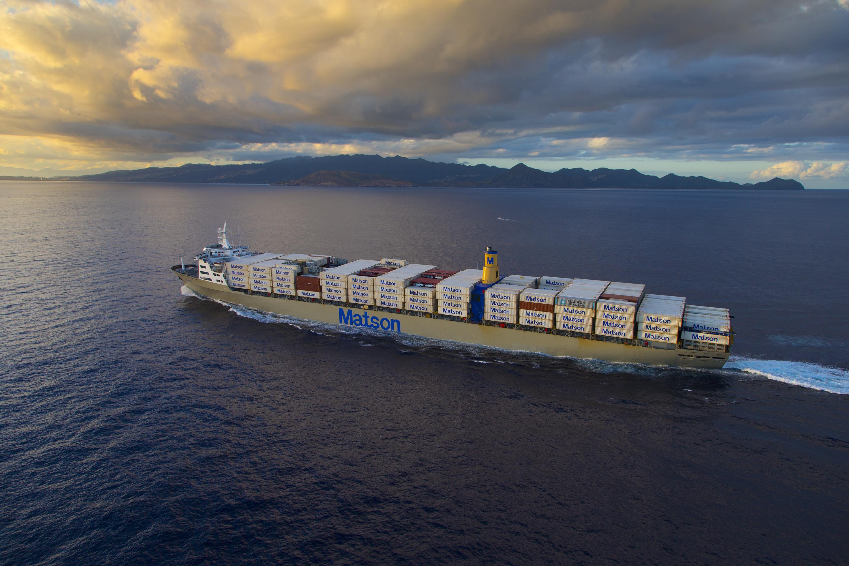 Large ship at sea
