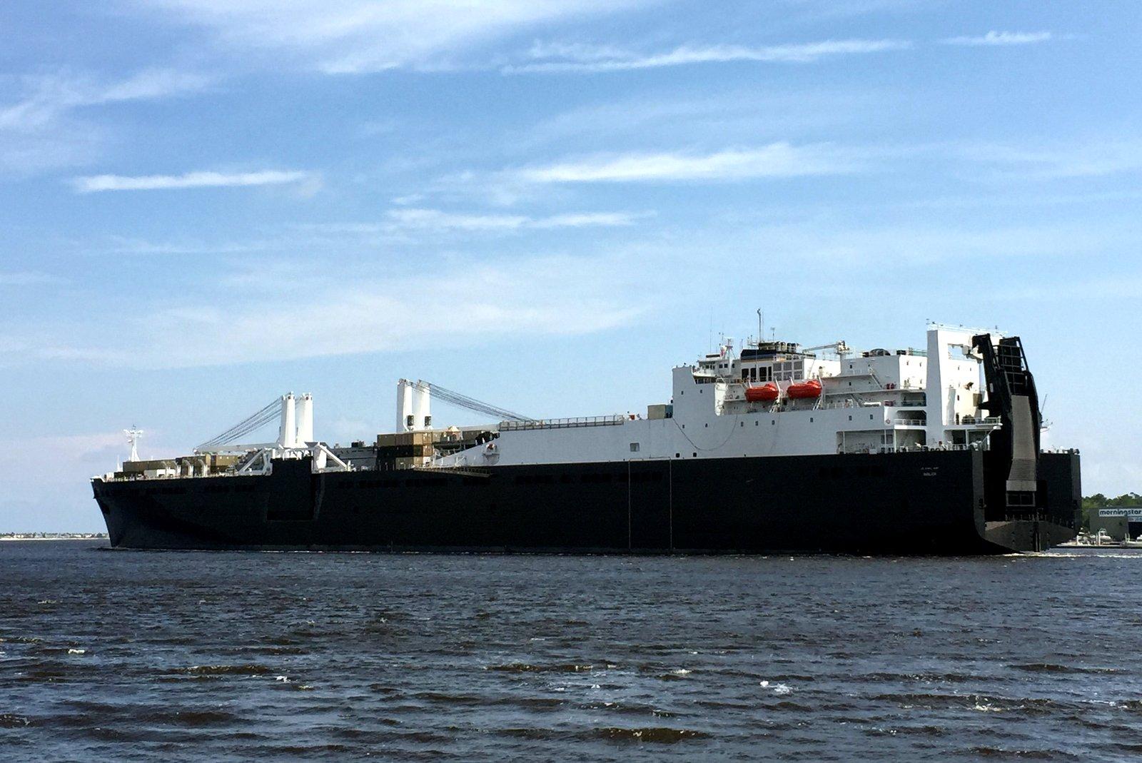 Large vessel at sea