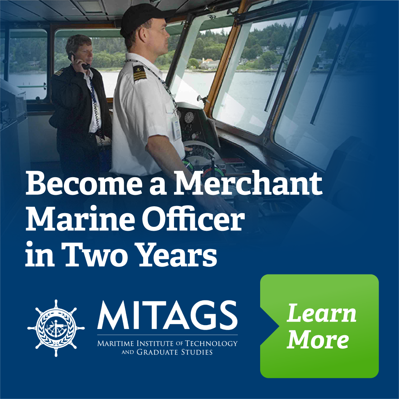 Merchant Marine Officer operating boat