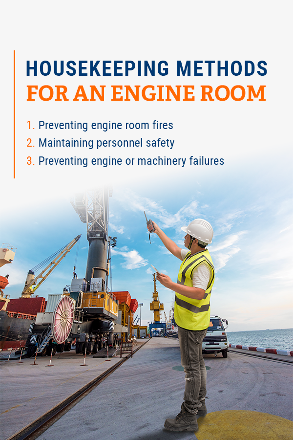 mariner performing safety and housekeeping tasks