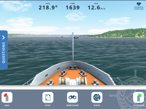 NAV-SAFE Digital Voyages screencap from boat point of view